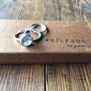 Vintage Silpada ring set size 7